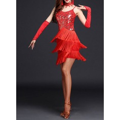 Women's Dancewear Spandex Latin Dance Dresses (115112615)
