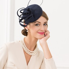 Dames Style Vintage Coton avec Feather Chapeaux de type fascinator/Chapeaux Tea Party
