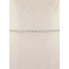 Elegant/Gorgeous Satin Sash With Beading/Rhinestones