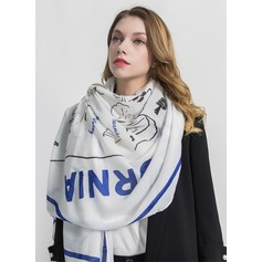 letter Oversized/simple Polyester Scarf