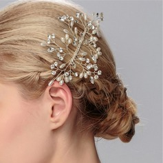 Pretty Alloy/Imitation Pearls Combs & Barrettes (Sold in single piece)