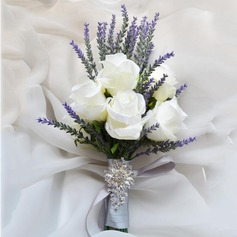 Fascinating Free-Form Artificial Silk Bridal Bouquets/Bridesmaid Bouquets - (123105304)