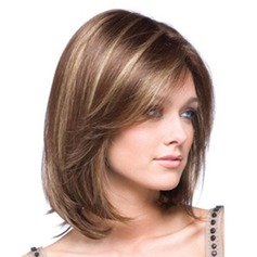 Charming Short Straight Synthetic Wig With Side Bang For Women (046120972)