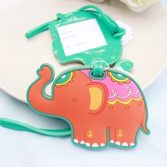Lovely Elephant Rubber Luggage Tags