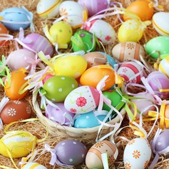 Colourful eggs for decoration