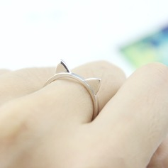 s925 Silver Unique Cat Ear Women's Fashion Rings Gifts