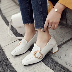 Women's PU Chunky Heel With Buckle shoes