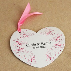 Personalized Floral Design Paper Invitation Cards With Ribbons