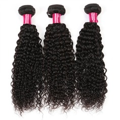 3A Non remy Curly Human Hair Human Hair Weave 100g