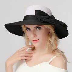Ladies' Elegant Polyester With Silk Flower Floppy Hat