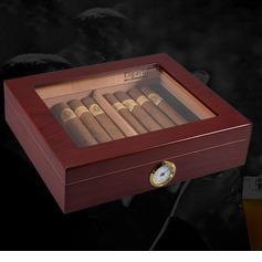 Groom Gifts - Vintage Wooden Humidor (257185217)