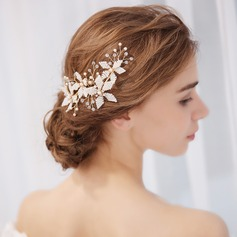 Ladies Classic Alloy Combs & Barrettes With Venetian Pearl (Sold in single piece)