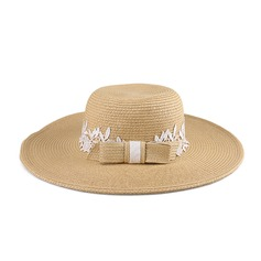 Ladies' Classic Papyrus With Bowknot Straw Hat