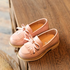 Girl's Baby's Unisex Leatherette Flat Heel Closed Toe Flats With Bowknot Tassel