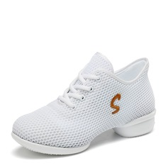 Women's Mesh Sneakers Sneakers With Lace-up Dance Shoes