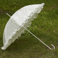 Gorgeous Terylene/Lace Wedding Umbrellas With Appliques (124036960)