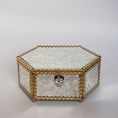 Vintage Alloy/Glass Ladies' Jewelry Box