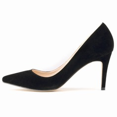 Women's Suede Stiletto Heel Pumps Closed Toe shoes (085113512)