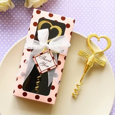Hearts Shape Metal Bottle Openers With Ribbons