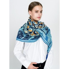 Floral Oversized/fashion Cotton/Linen Scarf