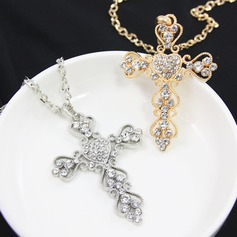 Fashional Alloy Rhinestones With Rhinestone Ladies' Fashion Necklace