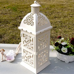 Pretty Flower Design Iron Candle Lantern (131038481)