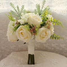 Charming Round Satin/Silk Bridal Bouquets -