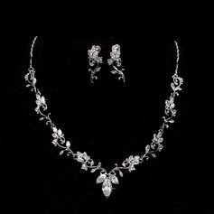 Elegant Alloy With Cubic Zirconia Ladies' Jewelry Sets (011144916)