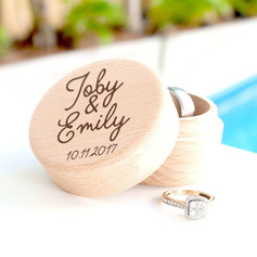 Elegant/Delicate/Personalized Rustic Wood Ring Box