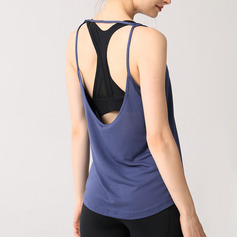 Simple Skin-Friendly Soft Sports Polyester Tank Top