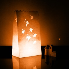 Maple Shaped Cut-out Paper Luminary