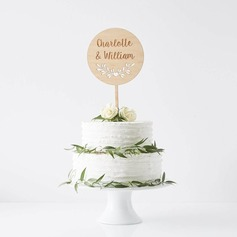 Personalized Wood Cake Topper