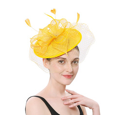 Ladies' Simple/Pretty Net Yarn With Feather Fascinators