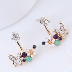 Fashional Alloy Czech Stones Ladies' Fashion Earrings