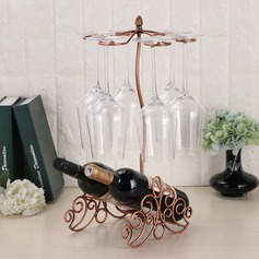 Elegant Classic Iron Wine Rack