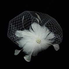 Gorgeous Imitation Pearls/Feather/Tulle Fascinators