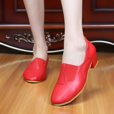 Women's Real Leather Pumps Ballroom Dance Shoes