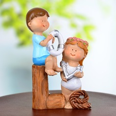 Fun at the Beach Resin Wedding Cake Topper