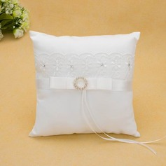 Ring Pillow in Satin With Ribbons/Lace