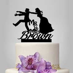 Personalized Classic Couple Acrylic Cake Topper (119118737)