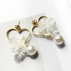 Nice Alloy Imitation Pearls Lace With Imitation Pearl Lace Women's Fashion Earrings (Set of 2)