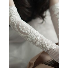 Tulle Elbow Length Bridal Gloves (014203326)