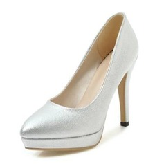 Women's Leatherette Cone Heel Pumps Platform Closed Toe shoes