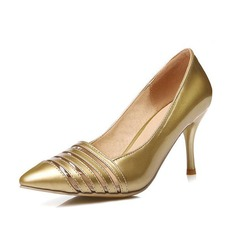 Women's Leatherette Stiletto Heel Pumps With Hollow-out Split Joint shoes