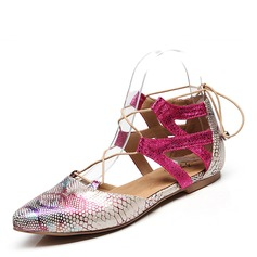 Women's Leatherette Flats Modern Dance Shoes