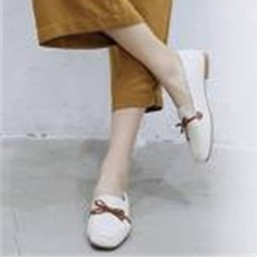 Women's PU Low Heel Flats Mary Jane أحذية