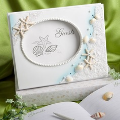 Beach Theme Starfish and Seashell Guestbook (101063554)