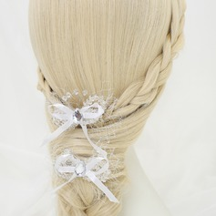 Bowknot Alloy/Imitation Pearls/Net Combs & Barrettes