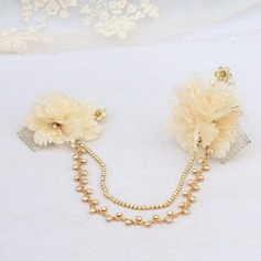 Elegant Satin/Tulle/Metal Combs & Barrettes/Forehead Jewelry
