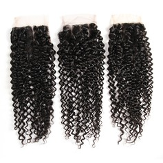 """4""""*4"""" 4A Non remy Kinky Curly Human Hair Closure (Sold in a single piece) 40g"""